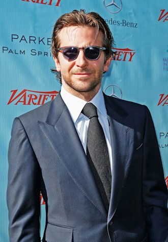 "Bradley Cooper makes a dapper entrance to the Variety ""10 Directors to Watch"" brunch at the Palm Springs International Film Festival on January 6, 2013."