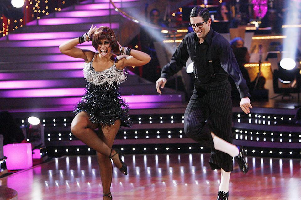 "Mya and Dmitry Chaplin perform the Jive to ""Would You...?"" by Touch and Go on ""Dancing with the Stars."""