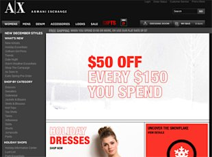Armani Exchange Cyber Monday deals