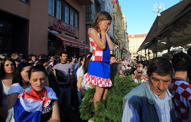 Croatian Football Fans React  AFP PHOTO/ STRINGERSTR/AFP/GettyImages AFP/Getty Images