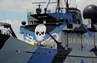 File photo shows militant environmental activist group Sea Shepherd Conservation Society's ship, the Steve Irwin, in Australia. Japan, whose Antarctic expeditions are routinely hindered by Sea Shepherd, says it is technically abiding by a 1986 moratorium on commercial whaling as its activities are for research