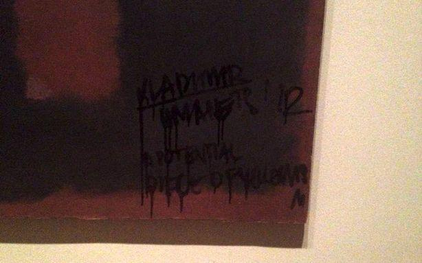 Rogue Graffiti Artist Defaces a Rothko in London