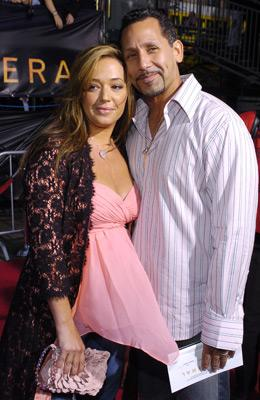 Leah Remini and husband Angelo Pagan at the LA premiere of Dreamworks SKG's Collateral -2004 Photo: