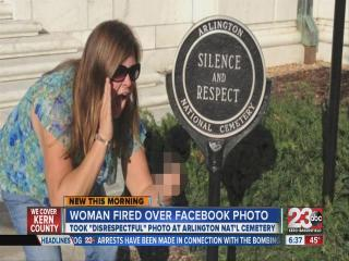 Lady fired over facebook photo