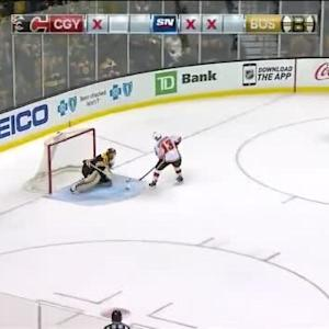 Tuukka Rask Save on Johnny Gaudreau (00:00/SO)
