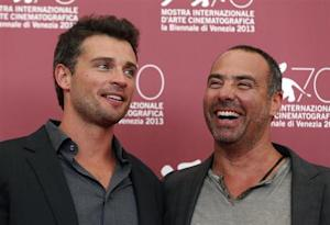 "Actor Welling and director Landesman pose during a photocall for their movie ""Parkland"" at the 70th Venice Film Festival"
