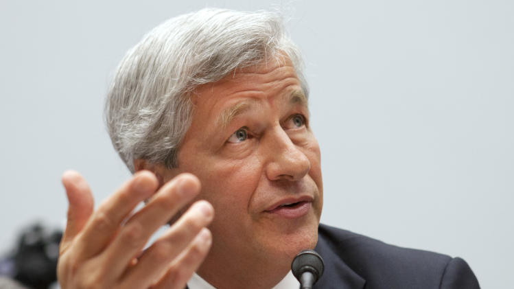 Jamie Dimon, CEO of JPMorgan Chase, testifies before the House Financial Services Committee on Capitol Hill in Washington, on Tuesday, June 19, 2012. (AP Photo/Jacquelyn Martin)