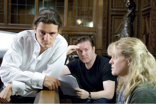 Orlando Bloom, Ricky Gervais, and Ashley Jensen  HBO's Extras