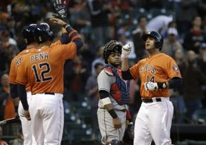 Astros break 5-game skid with 3-2 win over Indians