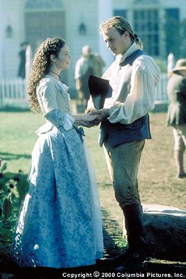 Lisa Brenner plays Anne Howard, whose passion and outspokenness about the cause equals that of male counterpart Gabriel Martin ( Heath Ledger ) in the Columbia Pictures presentation, The Patriot