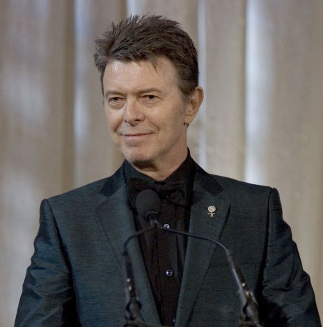 FILE - David Bowie attends an awards show in this June 5, 2007 file photo taken in New York. The English singer announced Tuesday, Jan. 8, 2013 his 66th birthday, that he has released his first song in 10 years titled &quot;Where Are We Now?&quot; A new album, &quot;The Next Day,&quot; will be out March 11 and 12 in the United Kingdom and the United States, respectively. (AP Photo/Stephen Chernin)