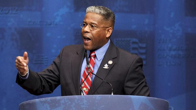 FILE - In this Feb. 10, 2012, file photo, Rep. Allen West, R-Fla., speaks at the Conservative Political Action Conference (CPAC) in Washington. West gave up his fight to remain in Congress on Tuesday, Nov. 20, 2012, after two weeks of recount battles in court. The first-term Republican said in a statement he was conceding the race to Democrat Patrick Murphy, a 29-year-old political newcomer. (AP Photo/J. Scott Applewhite, File)