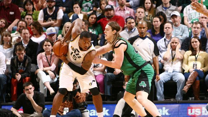 Burks, Favors lead Jazz to 110-98 win over Celtics