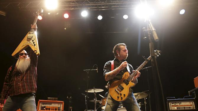 Rock group Eagles of Death Metal perform on stage at Sentrum Scene concert hall in Oslo