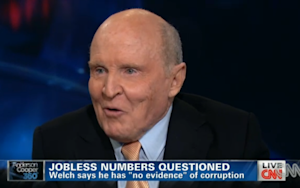Jack Welch Still Pretty Sure the Job Numbers Were Skewed