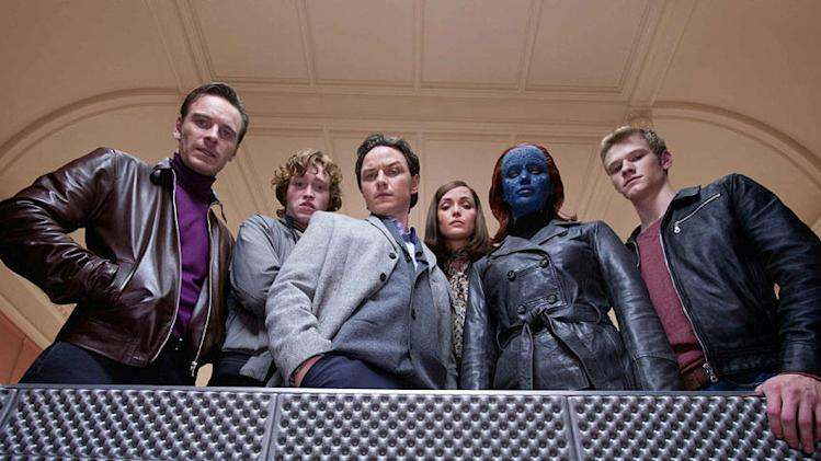 X Men First Class 2011 20th Century Fox Michael Fassbender James McAvoy Rose Byrne Jennifer Lawrence