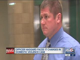 Court orders charged IMPD officer to stay away from wife, son after domestic violence incident