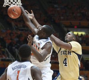 No. 22 Illinois beats Georgia Tech 75-62