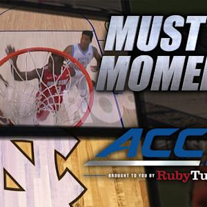 UNC's Brice Johnson Throws Down Alley-Oop | ACC Must See Moment
