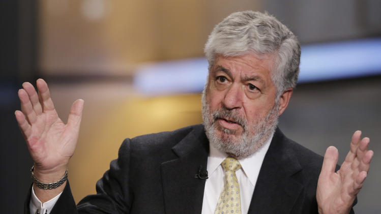 Bob Benmosche, President and CEO of AIG, is interviewed on the Opening Bell with Maria Bartiromo, Monday, March 10, 2014 in New York. (AP Photo/Mark Lennihan)