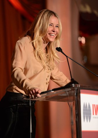 Chelsea Handler presents an award at the Courage in Journalism Awards inn Beverly Hills on October 29, 2012.