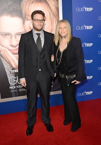 Seth Rogen and Barbra Streisand attend the premiere of Paramount Pictures&#39; &#39;The Guilt Trip at Regency Village Theatre, Los Angeles, on December 11, 2012 -- Getty Images