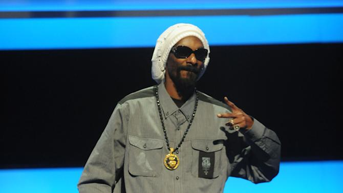 Special Guest Snoop Lion at the 2013 MTV Upfront, on Thursday, April 25, 2013 at the Beacon Theater in New York. (Photo by Brad Barket/Invision/AP Images)