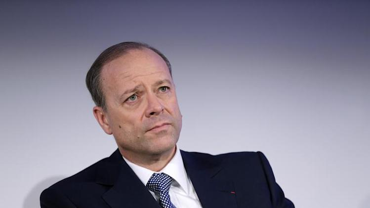 Chris Viehbacher, CEO of Sanofi, attends the company's 2012 annual results presentation in Paris