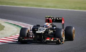 Lotus Formula One driver Grosjean of France drives during the qualifying session of the Japanese F1 Grand Prix at the Suzuka circuit