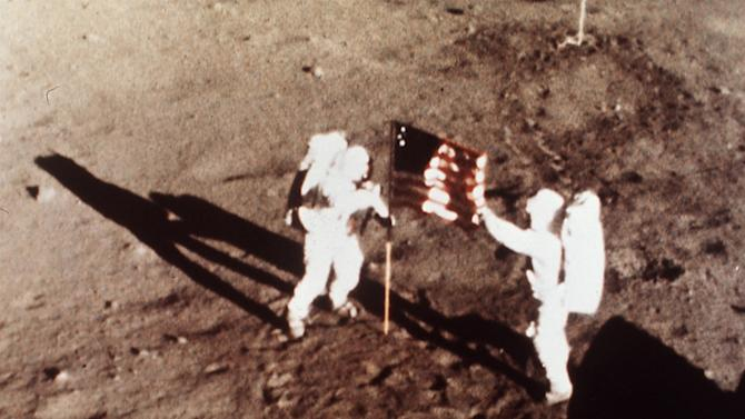 In this July 20, 1969 file photo provided by NASA shows Apollo 11 astronauts Neil Armstrong and Edwin E.