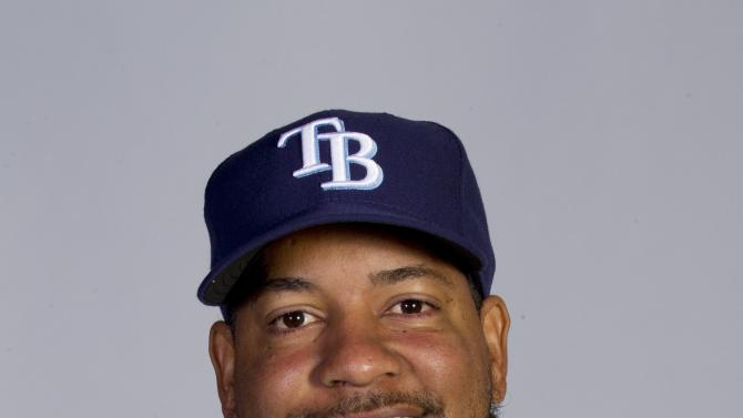FILE - This 2011 file photo shows Tampa Rays baseball player Manny Ramirez. Rays designated hitter Manny Ramirez is away from the team while attending to a family matter. Manager Joe Maddon said Ramirez was given Thursday, April 7, 2011 off while the Rays played the Chicago White Sox. (AP Photo/Dave Martin, File)
