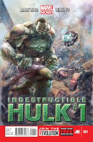 "This comic image released by Marvel Entertainment shows the cover of the upcoming ""Indestructible Hulk,"" part of Marvel Comics' new initiative aimed at recharging the publisher's heroes and villains. (AP Photo/Marvel Entertainment)"