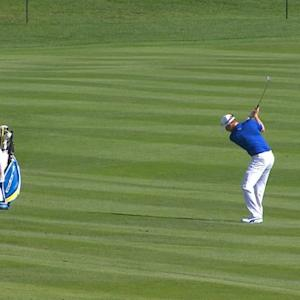 Jonas Blixt gets up and down for birdie at AT&T Pebble Beach