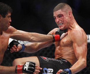 Diego Sanchez came alive in the third round of his fight with Gilbert Melendez. (USA Today)
