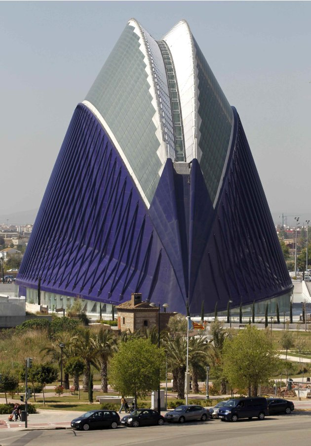 The Agora building at the City of Arts and Ciences is pictured in Valencia