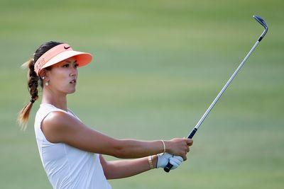 Michelle Wie busts a move after holing out for eagle in Hawaii