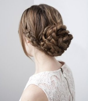 Elegantly Layered Braided Bun
