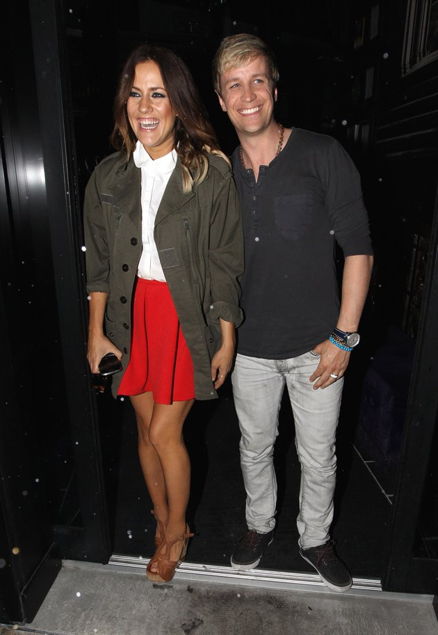 Caroline Flack and Kian Egan.