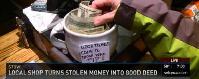 Coffee shop's surprising move for thief (WKYC)