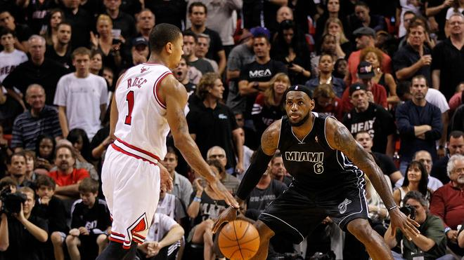 Derrick Rose #1 Of The Chicago Bulls Is Getty Images