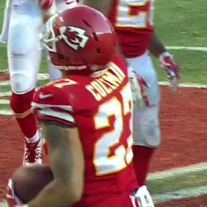 Kansas City Chiefs safety Kurt Coleman intercepts Chargers' Rivers to seal the game