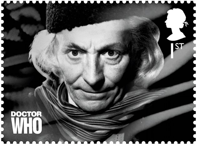 In this image release by the Royal Mail on Wednesday Jan. 3, 2013  shows a postage stamp with an image of the first Dr. Who William Hartnell. Dr. Who _ who usually uses a police box for travel _ will