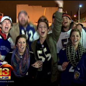 Fans Celebrate After Ravens Clinch Final AFC Wild Card Spot