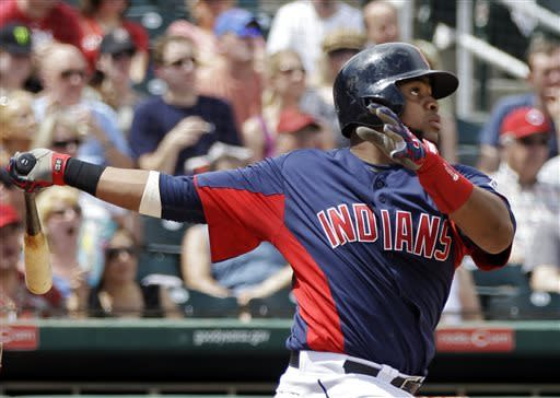 Indians beat Reds split squad 9-1 in spring finale