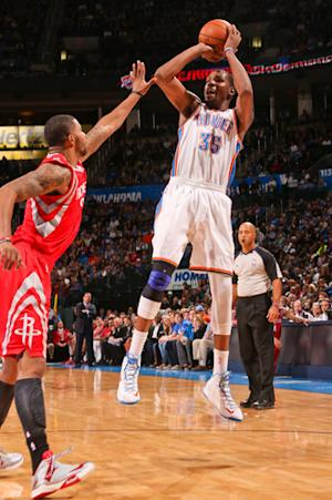 Thunder beat Rockets 120-98 in Harden's return