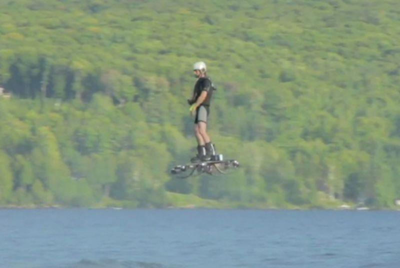 Man breaks Guinness hoverboard record after flying like a drone