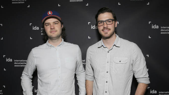 Directors Chapman Way and Maclain Way attend the Netflix Screening of The Battered Bastards of Baseball Presented by the IDA at Landmark Theater on Monday, September 22, 2014 in Los Angeles. (Photo by Todd Williamson/Invision for IDA/AP)