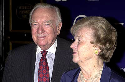 Walter Cronkite and wife at the New York premiere of Serendipity