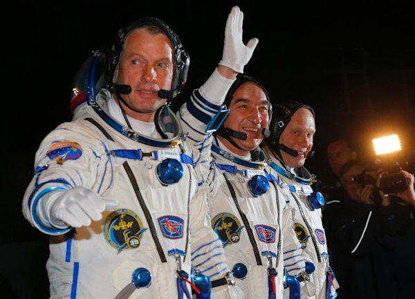 Russian-US crew blast off for ISS from Kazakhstan