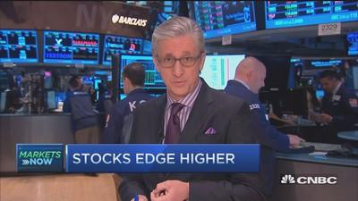 Stocks close higher as Street eyes data, Fed speakers; financials lead